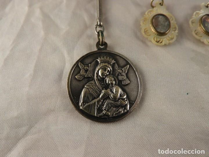 Antigüedades: MEDALLAS LLAVERO ROSARIO OBJETOS RELIGIOSOS ANTIGUOS - Foto 2 - 194866522