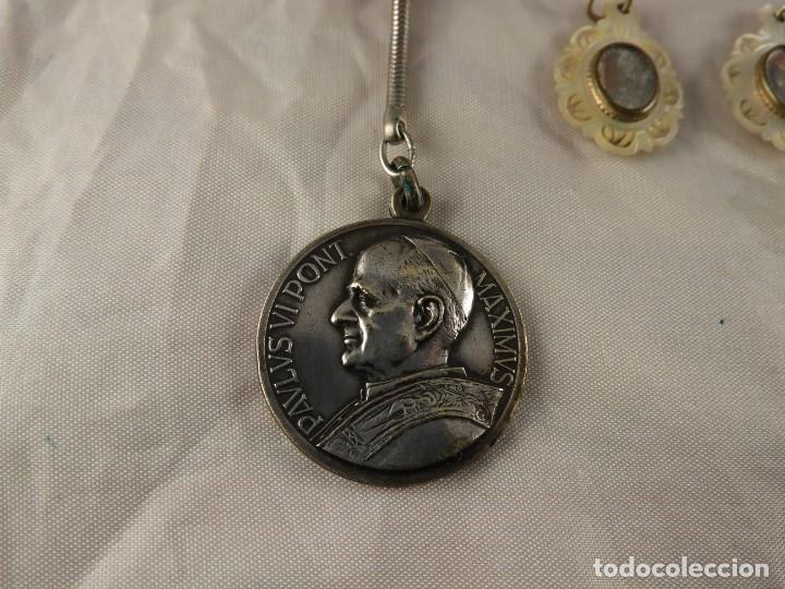 Antigüedades: MEDALLAS LLAVERO ROSARIO OBJETOS RELIGIOSOS ANTIGUOS - Foto 3 - 194866522