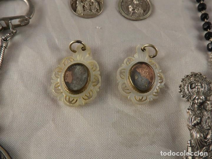 Antigüedades: MEDALLAS LLAVERO ROSARIO OBJETOS RELIGIOSOS ANTIGUOS - Foto 4 - 194866522