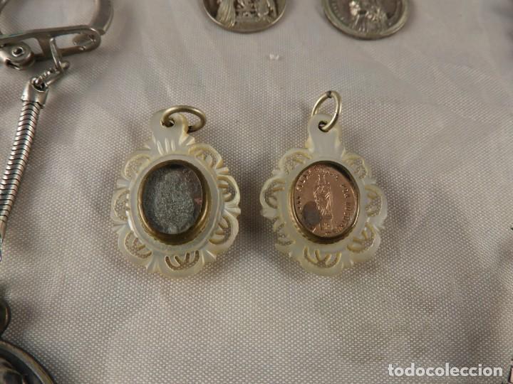 Antigüedades: MEDALLAS LLAVERO ROSARIO OBJETOS RELIGIOSOS ANTIGUOS - Foto 5 - 194866522