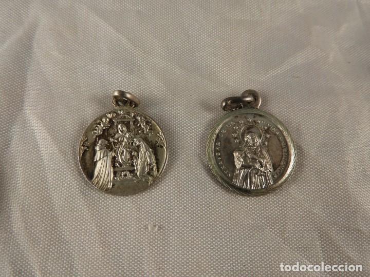 Antigüedades: MEDALLAS LLAVERO ROSARIO OBJETOS RELIGIOSOS ANTIGUOS - Foto 6 - 194866522