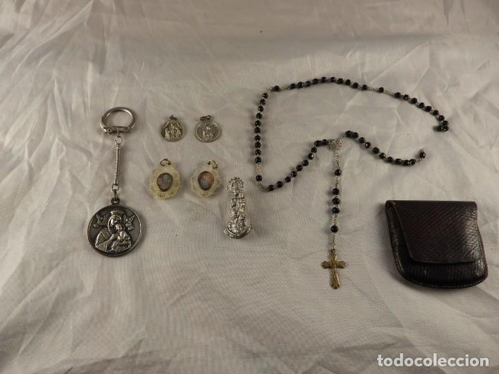 Antigüedades: MEDALLAS LLAVERO ROSARIO OBJETOS RELIGIOSOS ANTIGUOS - Foto 16 - 194866522