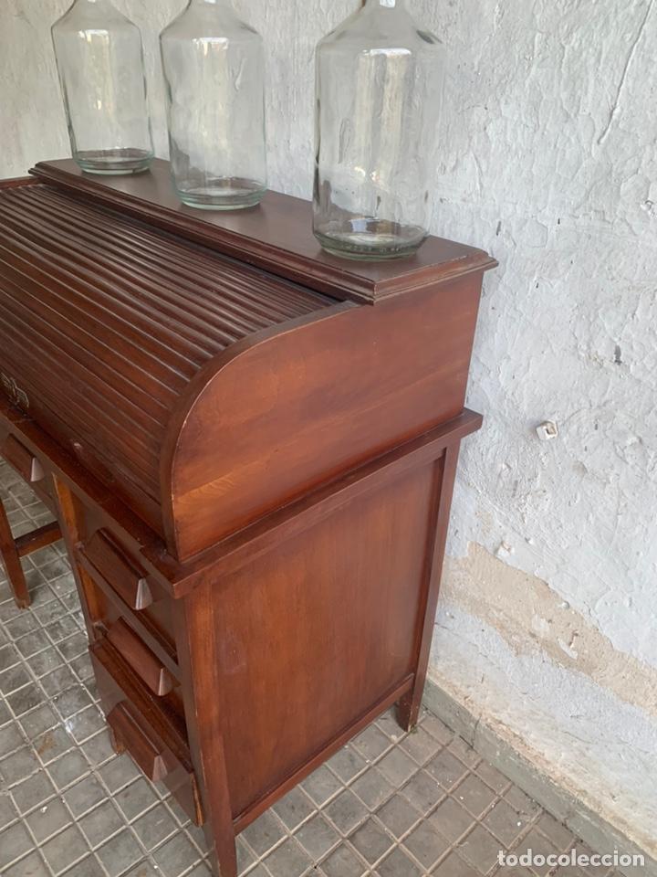 Antigüedades: ESCRITORIO BURÓ DE PERSIANA TIPO AMERICANO - Foto 18 - 194867720