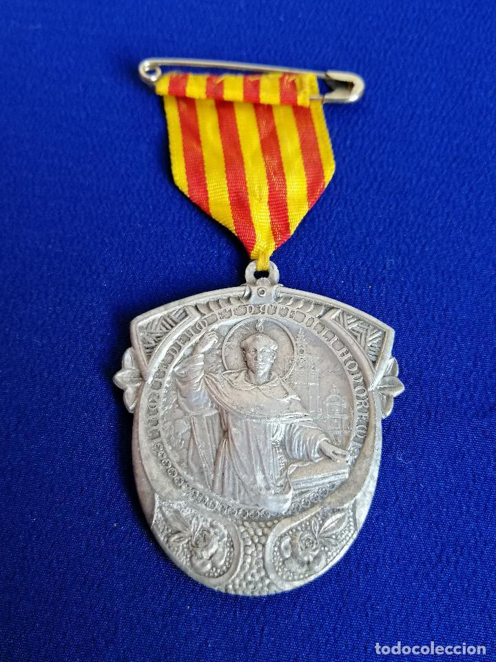 Antigüedades: MEDALLA SAN VICENTE FERRER -VI CENTENARIO DEL NACIMIENTO 1350-1950 (MELIANA) - Foto 3 - 194871587