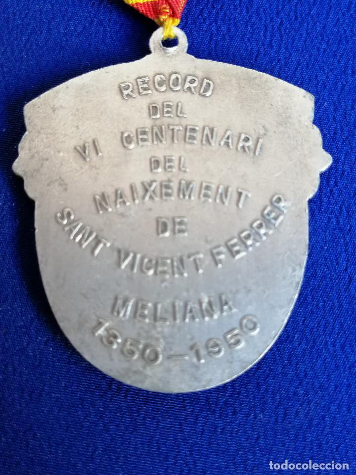 Antigüedades: MEDALLA SAN VICENTE FERRER -VI CENTENARIO DEL NACIMIENTO 1350-1950 (MELIANA) - Foto 4 - 194871587