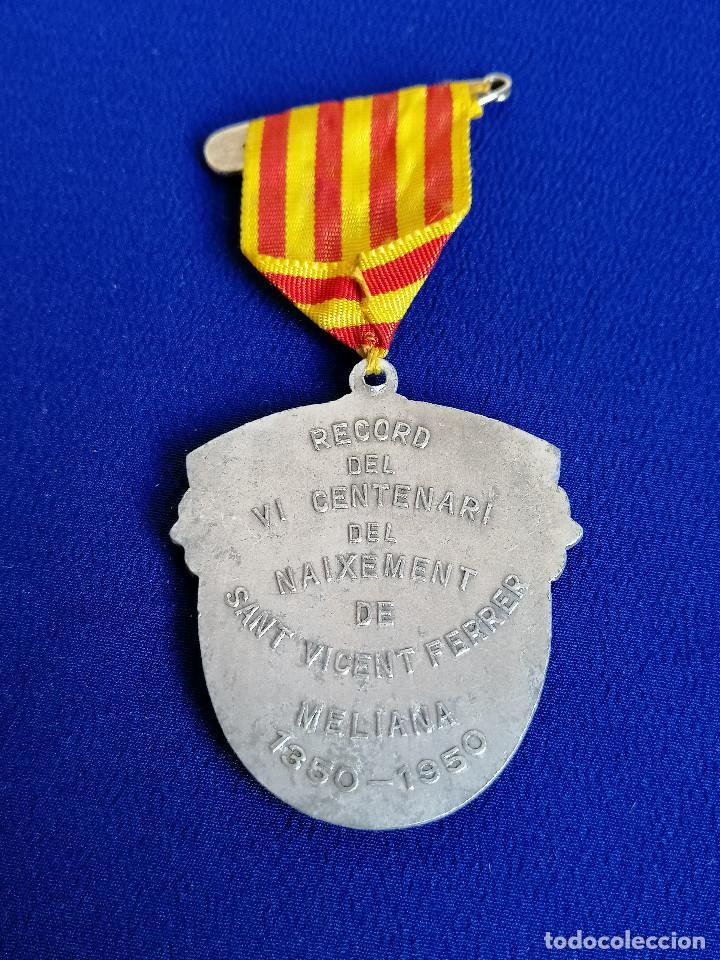 Antigüedades: MEDALLA SAN VICENTE FERRER -VI CENTENARIO DEL NACIMIENTO 1350-1950 (MELIANA) - Foto 5 - 194871587