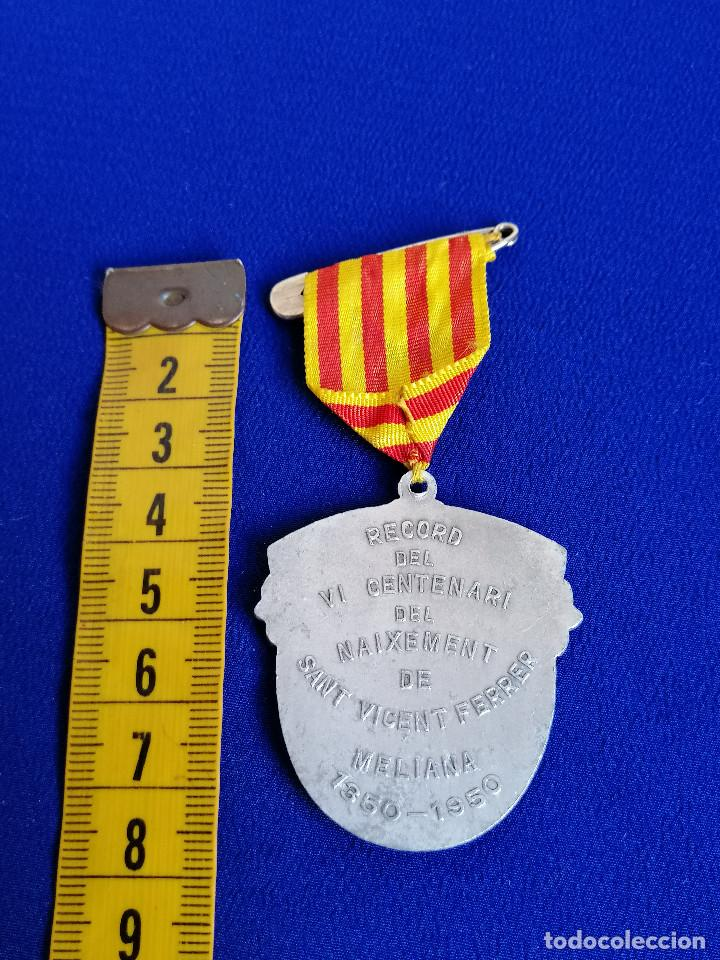Antigüedades: MEDALLA SAN VICENTE FERRER -VI CENTENARIO DEL NACIMIENTO 1350-1950 (MELIANA) - Foto 6 - 194871587