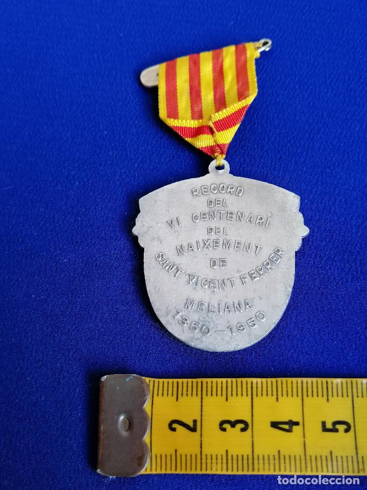 Antigüedades: MEDALLA SAN VICENTE FERRER -VI CENTENARIO DEL NACIMIENTO 1350-1950 (MELIANA) - Foto 7 - 194871587