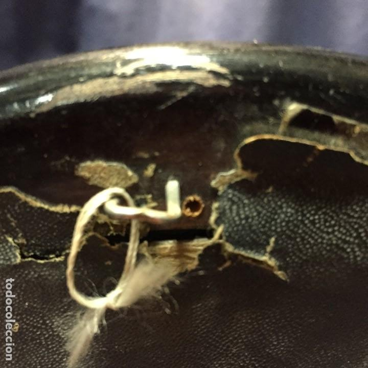 Antigüedades: PAREJA DE MARCOS MADERA TONDOS MEDALLON CONCHAS FLORES 20,5CMS - Foto 8 - 194874201