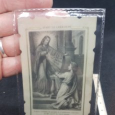 Antigüedades: RARA ESTAMPA RELIGIOSA SOBRE CELULOIDE. Lote 194876588