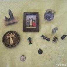 Antigüedades: LOTE DE 10 OBJETOS RELIGIOSOS, A CLASIFICAR. Lote 194879248