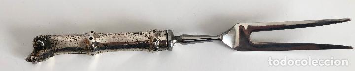 Antigüedades: CONJUNTO DE CUBIERTOS TRINCHANTES DE SERVIR DE LA CASA VALENTI - Foto 6 - 194880613