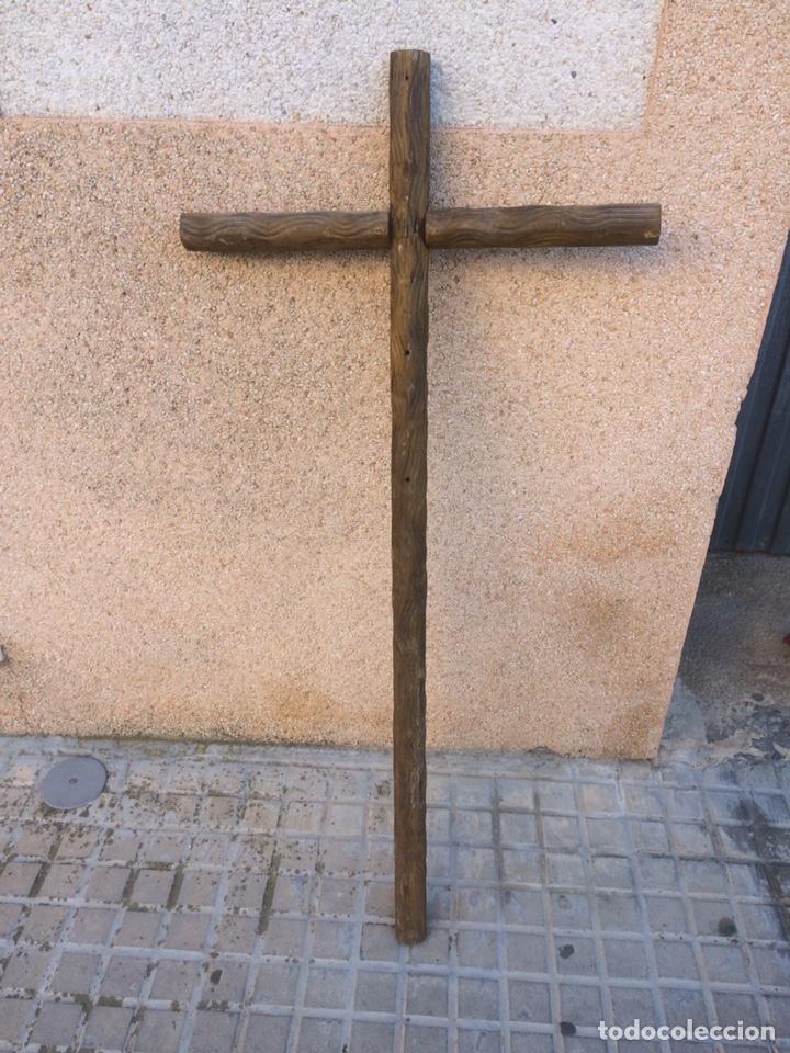 ANTIGUA CRUZ DE IGLESIA!DE MADERA! (Antigüedades - Religiosas - Cruces Antiguas)