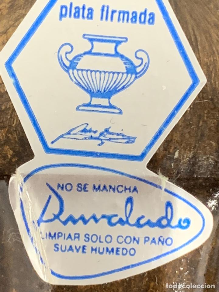 Antigüedades: MARCO DE PLATA CON ESPEJO DE PEDRO DURAN - Foto 15 - 194882058
