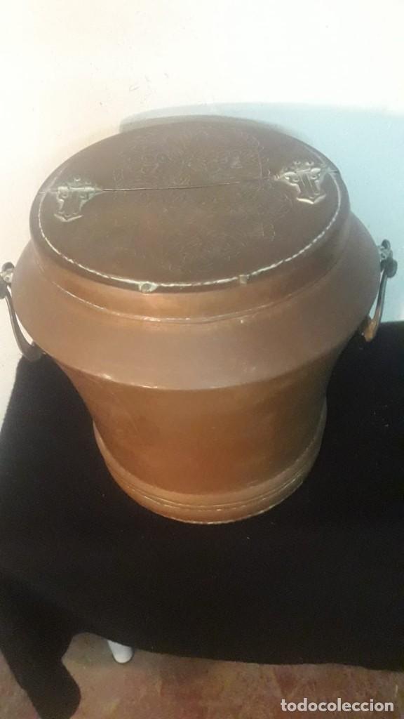 Antigüedades: Deposito o tinaja de cobre - Foto 2 - 194882070