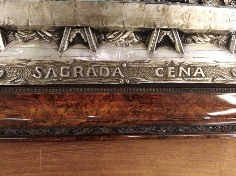Antigüedades: Cuadro de la Sagrada Cena en relieve. - Foto 6 - 194882477