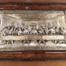 Antigüedades: CUADRO DE LA SAGRADA CENA EN RELIEVE.. Lote 194882477