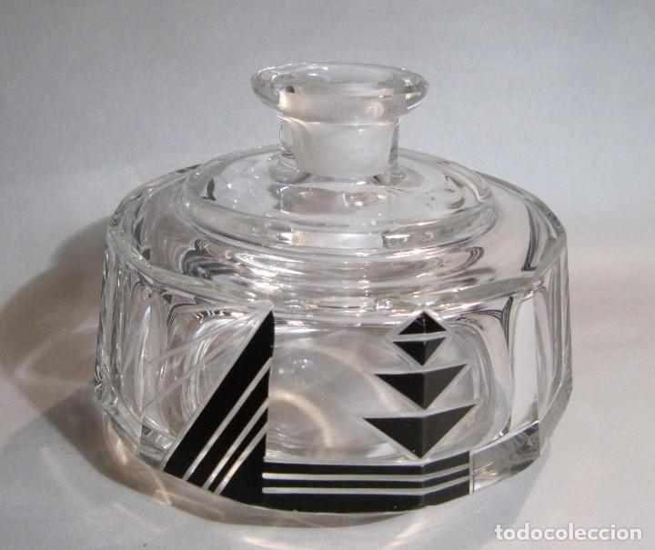 Antigüedades: Juego de tocador dos perfumeros de cristal art deco años 30 - Foto 2 - 194884837