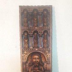 Antigüedades: RETABLO TALLA EN MADERA. Lote 194884882