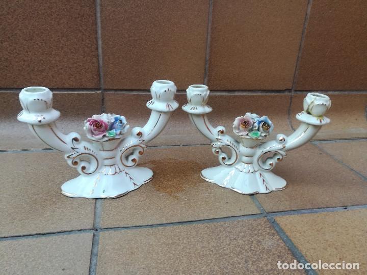 CANDELABROS CERÁMICA (Antigüedades - Iluminación - Candelabros Antiguos)