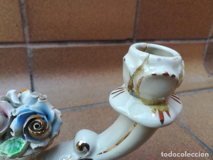 Antigüedades: Candelabros cerámica - Foto 2 - 194886347