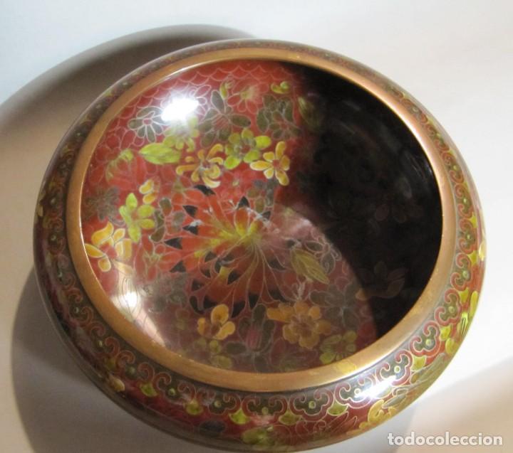 Antigüedades: cuenco chino de esmalte cloisonné, años 70 - Foto 2 - 194886503