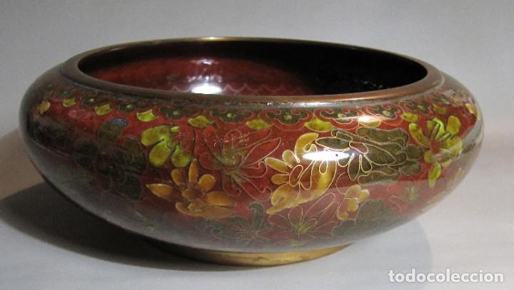 Antigüedades: cuenco chino de esmalte cloisonné, años 70 - Foto 3 - 194886503