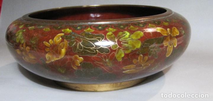 Antigüedades: cuenco chino de esmalte cloisonné, años 70 - Foto 4 - 194886503