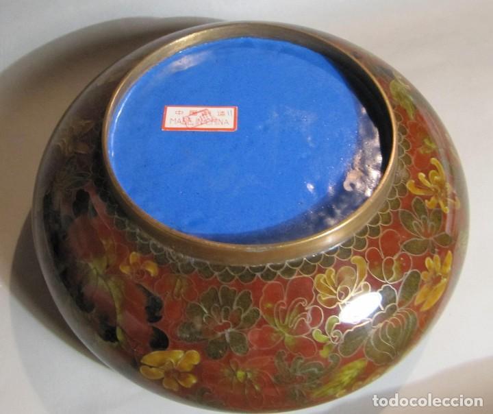 Antigüedades: cuenco chino de esmalte cloisonné, años 70 - Foto 5 - 194886503