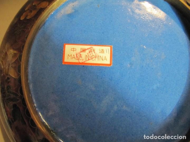 Antigüedades: cuenco chino de esmalte cloisonné, años 70 - Foto 6 - 194886503