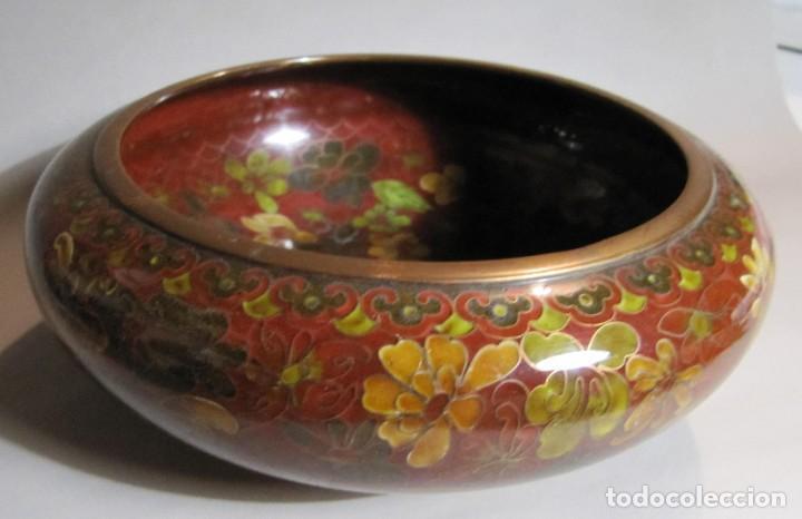 Antigüedades: cuenco chino de esmalte cloisonné, años 70 - Foto 7 - 194886503