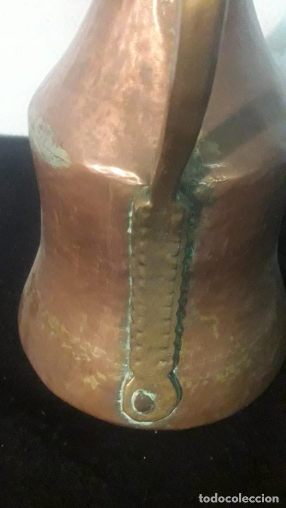 Antigüedades: Jarra de leche cobre - Foto 5 - 194888828