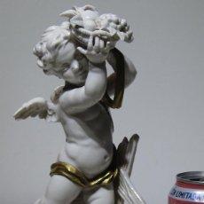 Antigüedades: ANGEL ESTACIÓN OTOÑO PORCELANA ALGORA HS . 26 CM ALTURA. . Lote 194889951
