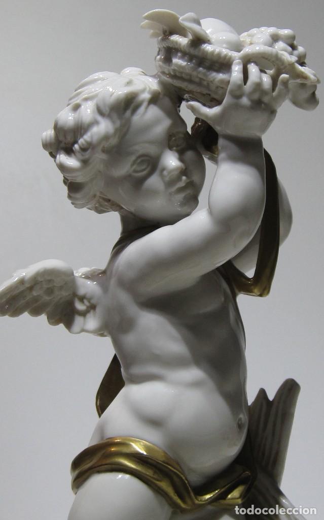 Antigüedades: Angel estación Otoño Porcelana ALGORA HS . 26 Cm altura. - Foto 5 - 194889951