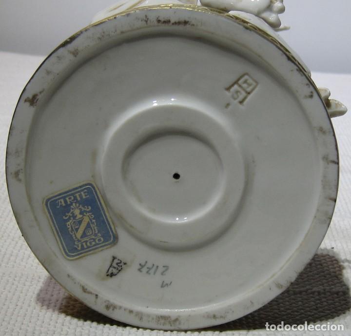 Antigüedades: Angel estación Otoño Porcelana ALGORA HS . 26 Cm altura. - Foto 8 - 194889951