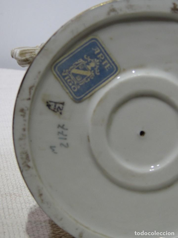 Antigüedades: Angel estación Otoño Porcelana ALGORA HS . 26 Cm altura. - Foto 9 - 194889951