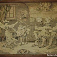 Antigüedades: TAPIZ SIGLO XIX , ESCENA ODALISCA. ENMARCADO. Lote 194890330