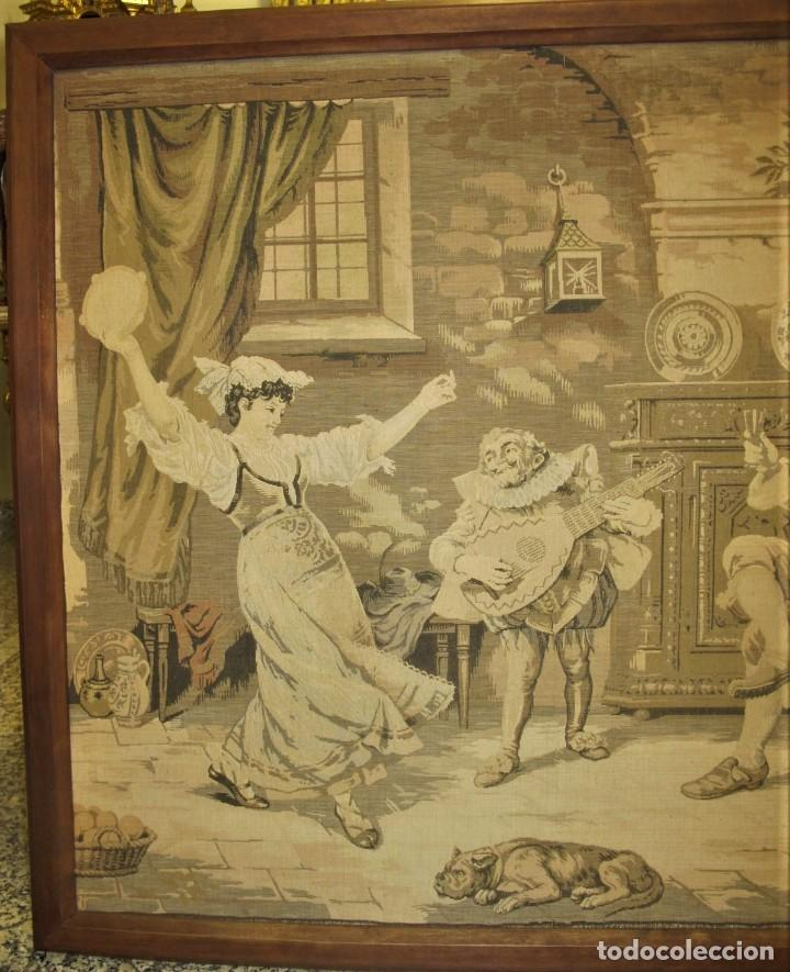 Antigüedades: TAPIZ SIGLO XIX , ESCENA ODALISCA. ENMARCADO - Foto 4 - 194890330