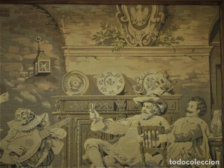 Antigüedades: TAPIZ SIGLO XIX , ESCENA ODALISCA. ENMARCADO - Foto 5 - 194890330