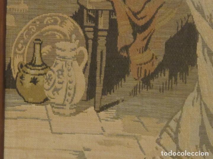 Antigüedades: TAPIZ SIGLO XIX , ESCENA ODALISCA. ENMARCADO - Foto 9 - 194890330