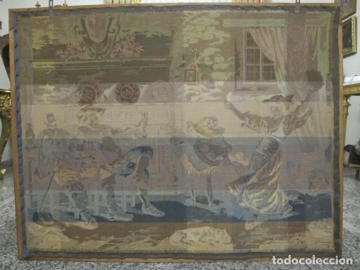 Antigüedades: TAPIZ SIGLO XIX , ESCENA ODALISCA. ENMARCADO - Foto 12 - 194890330