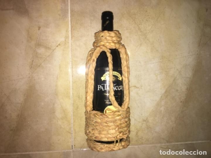 Antigüedades: Botellero de Anea, Antiguo años 50 hecho a mano! (Esparto) - Foto 2 - 194890465