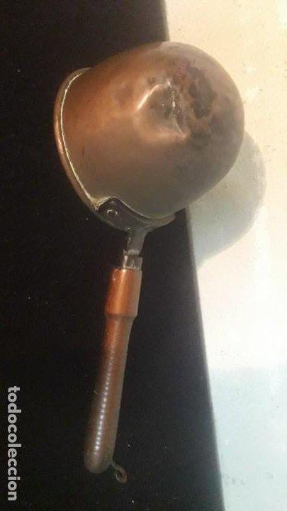Antigüedades: Cazo de garrapiñar pasteleria antiguo cobre - Foto 4 - 194890661