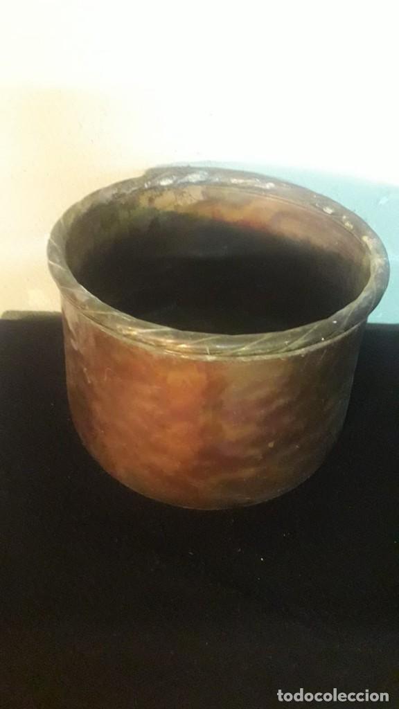 Antigüedades: Olla de cobre sin asas - Foto 2 - 194891313