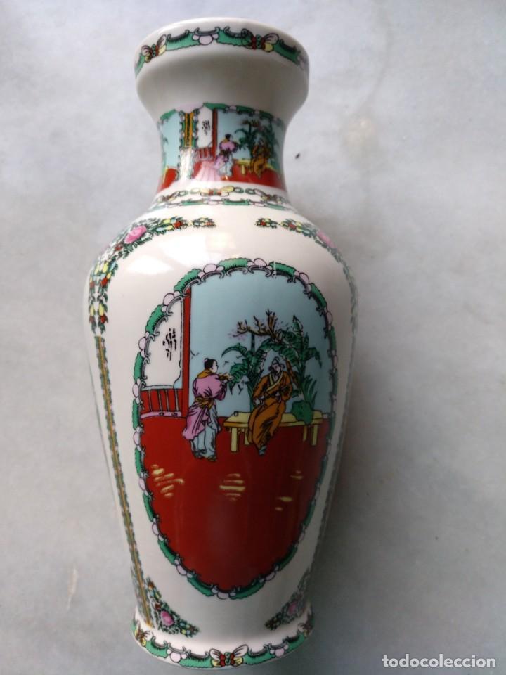 JARRÓN PORCELANA CHINA (Antigüedades - Porcelanas y Cerámicas - China)