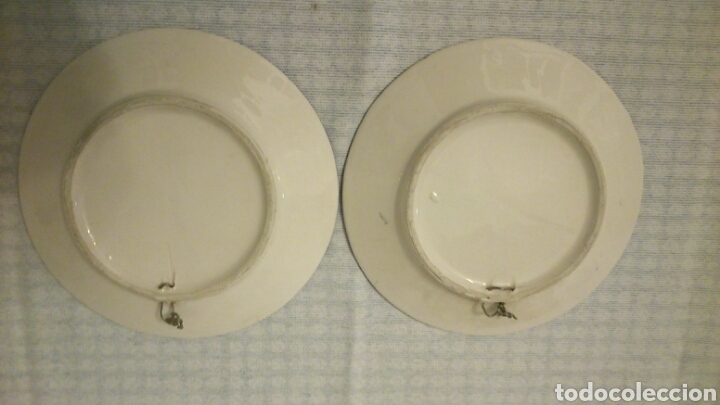 Antigüedades: Dos platos de Triana ( Sevilla, 18 cm de diámetro) - Foto 4 - 194891735