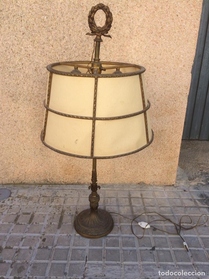 ANTIGUA LAMPARA DE BRONCE,DE 3 LUCES! (Antigüedades - Iluminación - Lámparas Antiguas)