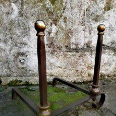 Antigüedades: ANTIGUO MORILLO DE CHIMENEA DOBLE. Lote 194894657