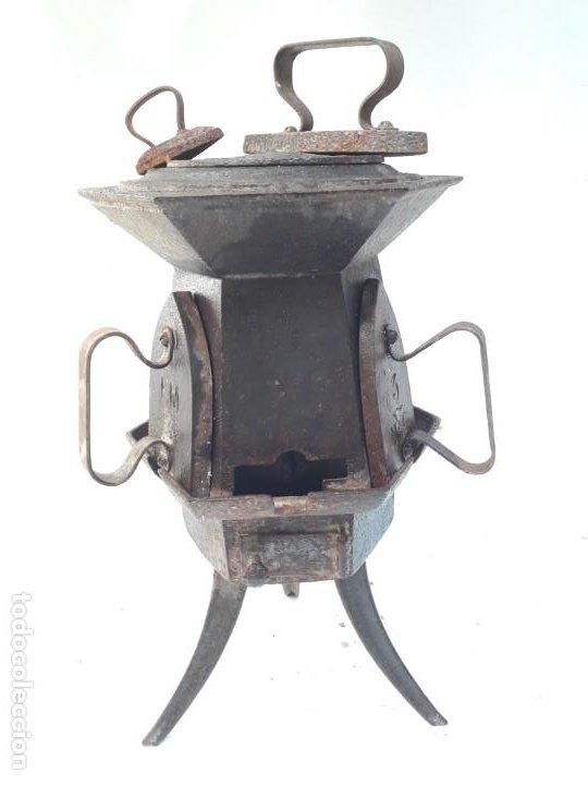 Antigüedades: CENTRAL DE PLANCHADO ANTIGUA S XVIII XIX , DE MUSEO - Foto 3 - 194896946