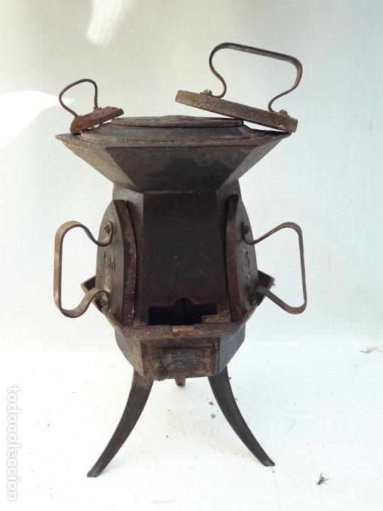 Antigüedades: CENTRAL DE PLANCHADO ANTIGUA S XVIII XIX , DE MUSEO - Foto 4 - 194896946